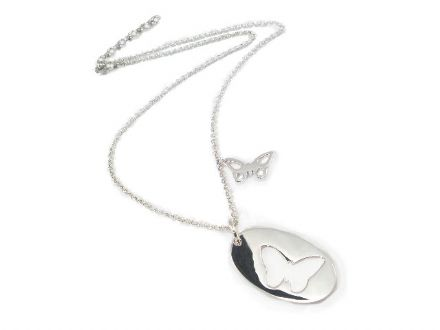Silver Butterflies Necklace and Chain